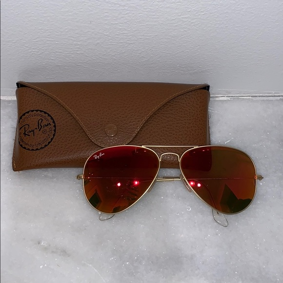 Ray-Ban Accessories - Orange Mirrored Ray Ban Sunglasses